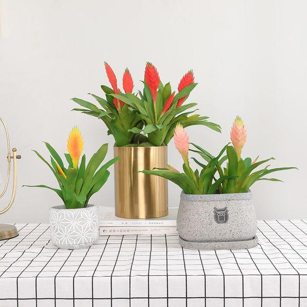 3 Pcs/Lot Simulation tropical succulent plants plastic fake flowers wholesale diy indoor living room home decoration artificial plants