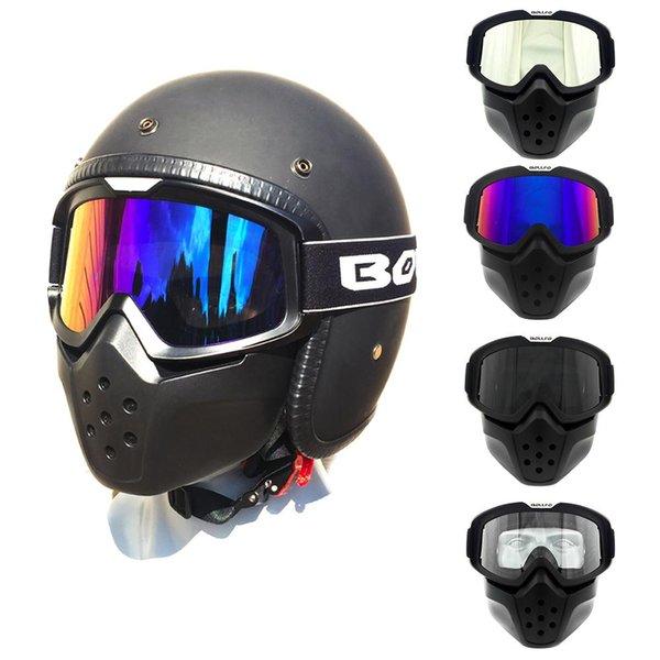 Retro Açık Bisiklet Gözlük Rüzgar Geçirmez Göz Koruması Motosiklet Bisiklet Sürme Ayna Maskesi Gözlük Motosiklet Yarışı Araba Malzemeleri