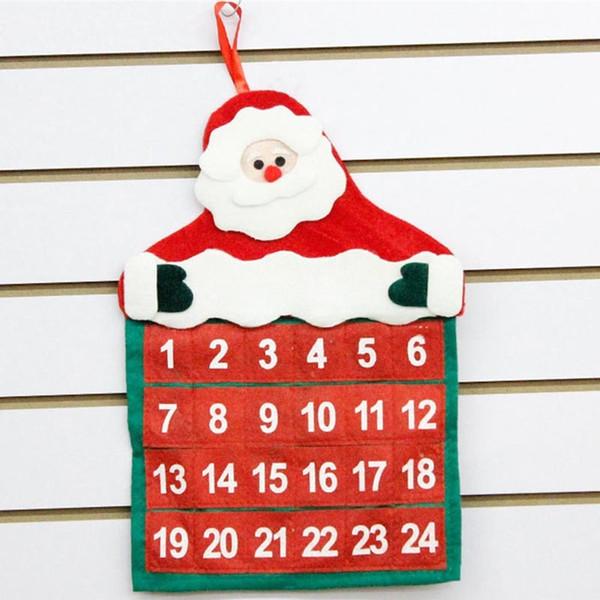1pcs 24 pockets Christmas Santa Claus Wall Hanging Storage Bag Home Decor New Year Gift Ornaments Xmas Decoration 62352