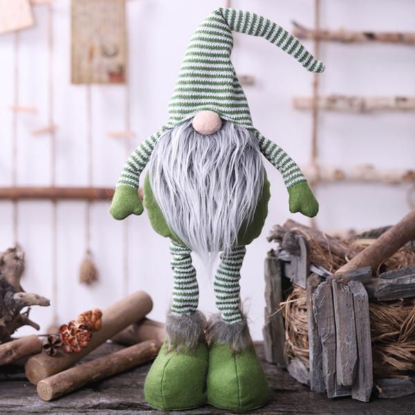 Noel Uzun Bacaklı İsveçli Santa Gnome Peluş Bebek Süsleme El yapımı Elf Oyuncak Tatil Evi Parti Dekoru Çocuk Hediye