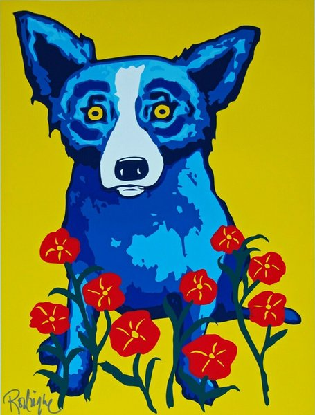 George Rodrigue Blue Dog Spring Is Here Home Decor Handpainted &HD Print Oil Painting On Canvas Wall Art Canvas Pictures 200112