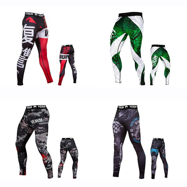 Venom Fighting Fitness Pants Männer Camo Camouflage Hero Laufhose Schnell trocknend Pro Sporthose Boxing Rashguard MMA Pant