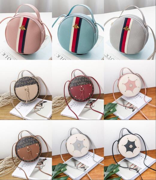 2019 filles dames mini sac avec des glands pendentif sac rond mode loisirs sac de couette filles Casaul PU sacs à main bébé sacs