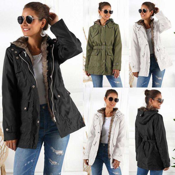Europa das mulheres e dos Estados Unidos de inverno algodão grosso casaco fashion quente Magro grande tamanho S-XXXL casaco longo casaco parka