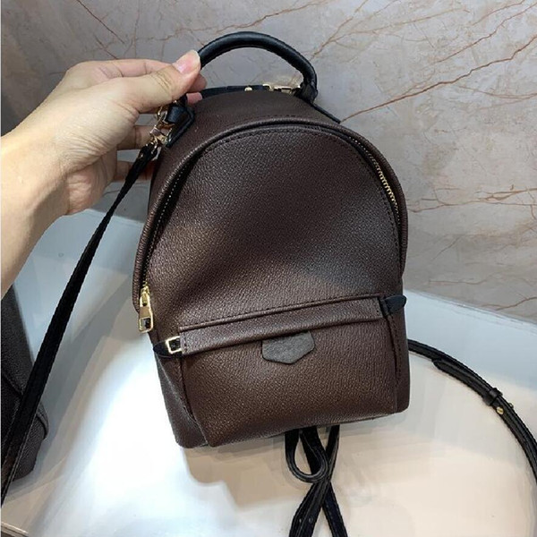 top popular Hight quality Women's Palm Springs Backpack Mini genuine leather children backpacks women printing leather backpack M41560 2020