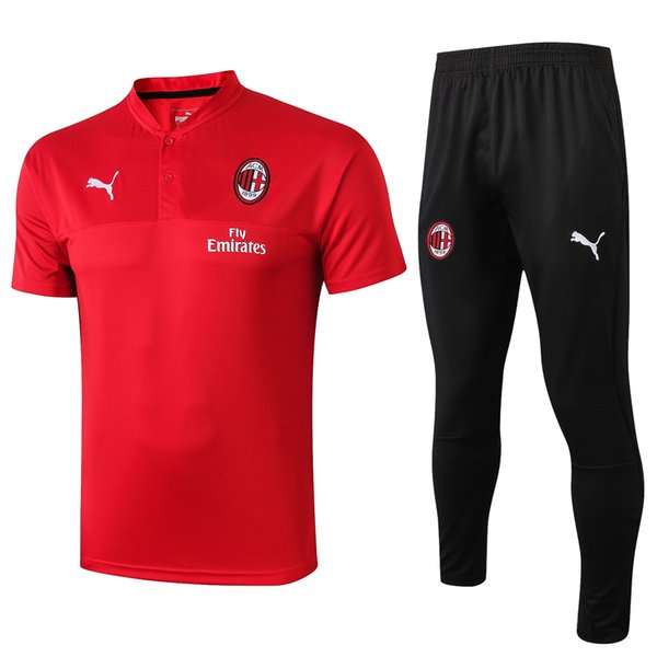 NUEVO chándal de fútbol AC Milan 18-19 traje de entrenamiento de fútbol de la chaqueta 2018 2019 HIGUAIN Calhanoglu chándal BONUCCI F ropa de entrenamiento de fútbol