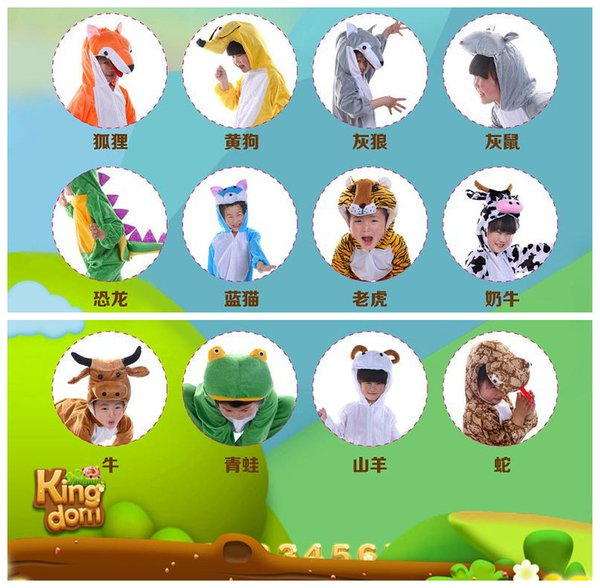 Accessories Cosplay Costumes Children Cartoon Animals Cosplay Costumes Tiger Zebra Monkey Dinosaur Party Clothes Animal Costume Jumpsuit ...