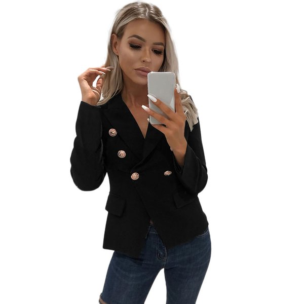 SAGACE sexy 2019 women formal colorful blazer long sleeve ladies coat female pockets buttons blazer wsuit