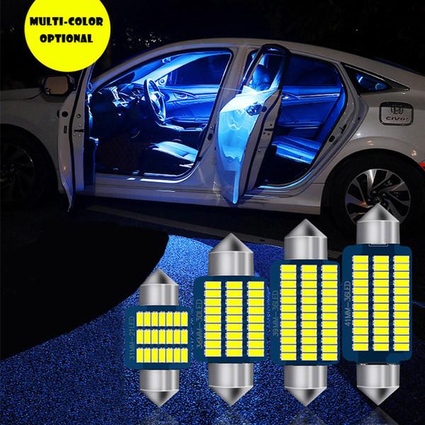 12pcs Festoon 31mm 36mm 39mm 41mm T10 BA9S C5W C10W Erreur Ampoule Sans Canbus 3014 Car Intérieur lecture lampes de dôme Feux de stationnement