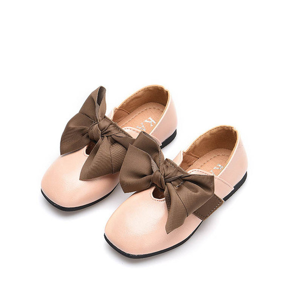 2019 new Girls Dress Shoes Bows kids shoes Pu leather girls shoes Fashion princess shoe Childrens Shoe Girls Footwear A3428