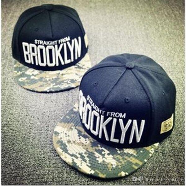 Al por mayor 2015 Cayler Sons Gorras Hip Hop Caps Carta BROOKLYN para hombre de la gorra de béisbol mujeres de la marca Sombrero Negro Snapback ajustable