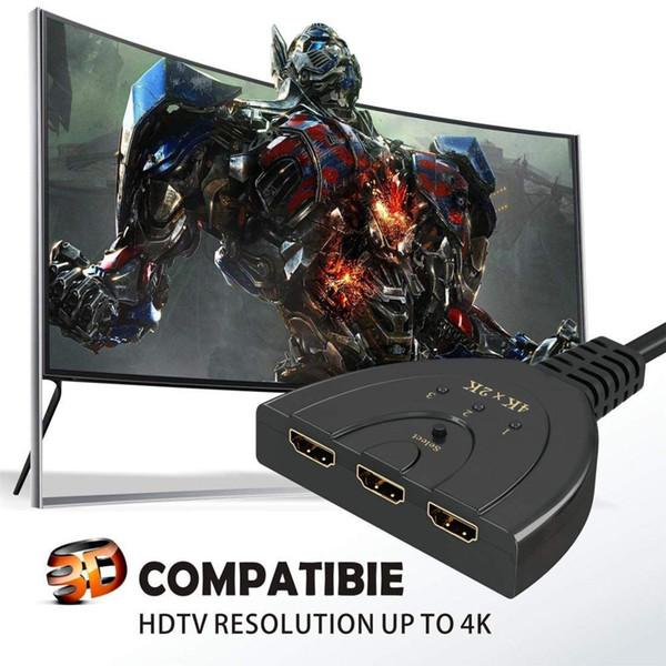 Bölen HDMI 4K * 2K 3 Puertos Mini Kablo de conmutador 1.4b 1080P para DVD HDTV Xbox PS3 PS4 3 porto Hub 1 tr HDMI interruptor