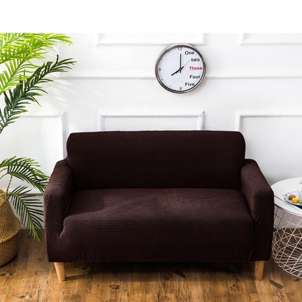 Expert Shake Fleece Sofa Set Paquete completo Set universal Paquete compacto Elastic Force Group Combine Sofa Cover
