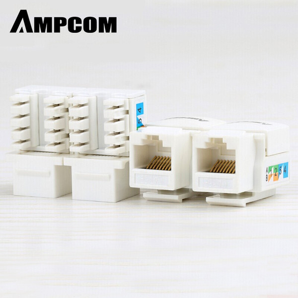 OMPUTER Office Computer Cass Cables Connectors 6 Keystone Jack, Ampcom Snap-In Punch-Down .6 Модуль Keystone Adapter 100/1000 ...