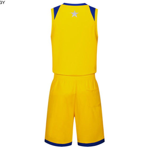 2019 New Blank Basketball jerseys printed logo Mens size S-XXL cheap price fast shipping good quality Yellow Y004nhQ