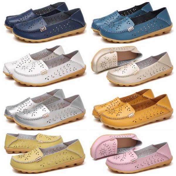 88b4fb73b0 Sapatos Baixos Doug Preguiçosos Sapatos Mocassins Sandálias Sapatos de  Verão Buraco Sapatos Meninas Sapatos Ralos Macios
