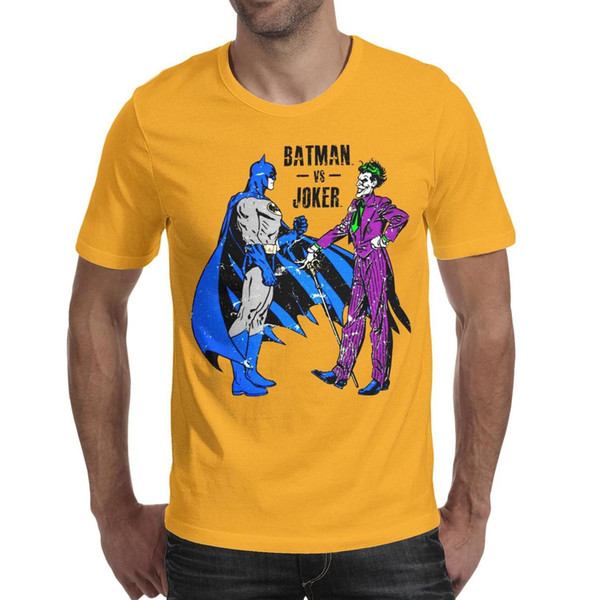Dials Batman vs. Joker Set yellow mens short sleeve t shirts custom t shirt cotton trendy funny men Tops Pullover