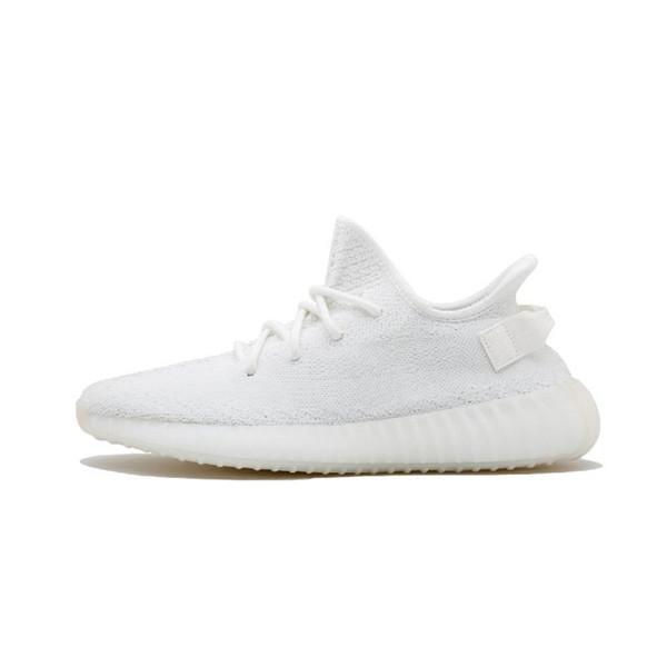 2019 beurre de cacahuète semi-surgelé teinté jaune Ah2203 sésame beluga 2.0 Kanye West chaussures de course crème blanc baskets zèbres