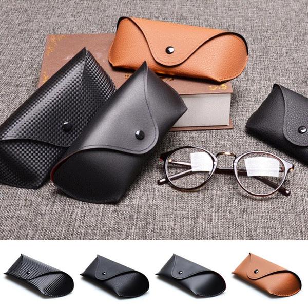 Fashion Hot Sale Men Women Portable Glasses Case Magnetic PU Leather Fold-able Glasses Box For Eyeglass oversize