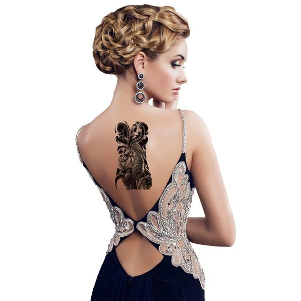 1 Sheet 10 Styles New Funny Fashion Art Retro Large Temporary Tattoo Arm Body Fake Sticker Removable Waterproof Sticker