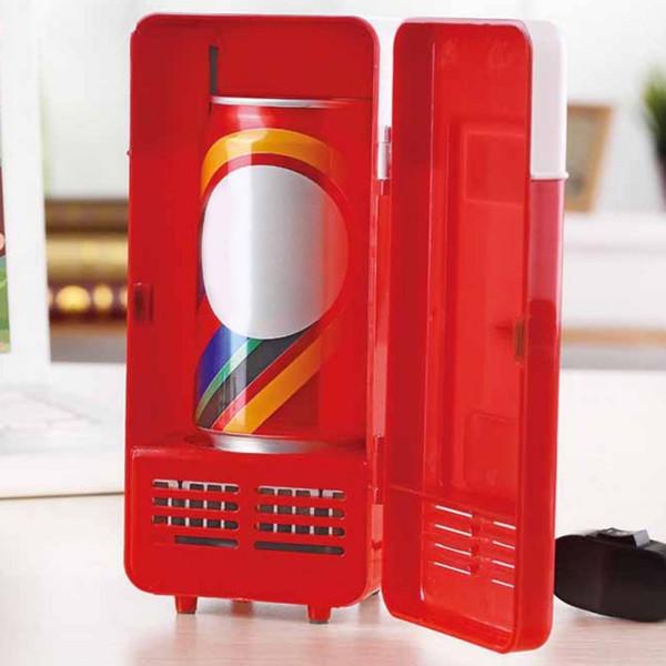 Latas Top Grade pequeno USB Frigorífico Office Home bebidas frias Novel Innovative Gadget USB Prático