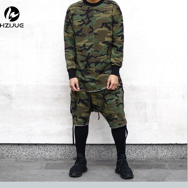 Hzijue Hip Hop Justin Bieber Clothes Street Wear 2017 Kpop Urban Clothing Men Long Sleeve Longline T Shirt Swag Clothes C19040301