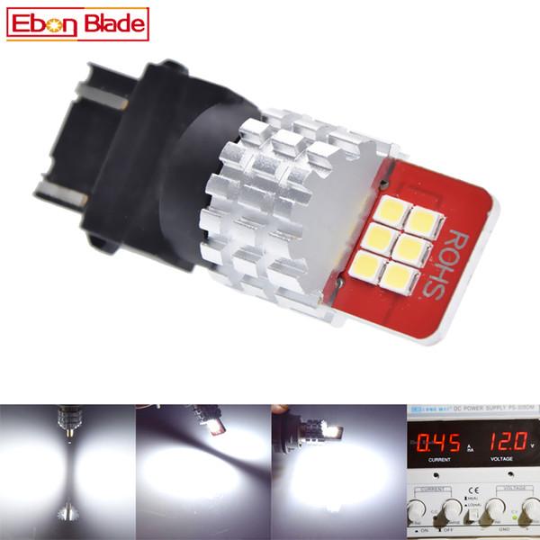 1Pcs 3157 3156 3057 3056 12 SMD LED Bulbs 2835 Chip Car Lamp Rear Brake Lights Source Parking 9V-16V DC Amber White Red