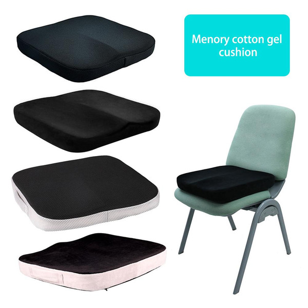40*40cm High Density Gel Memory Foam Four Seasons Universal Slow Rebound Cushion Seat Keeps Dry and Breathable