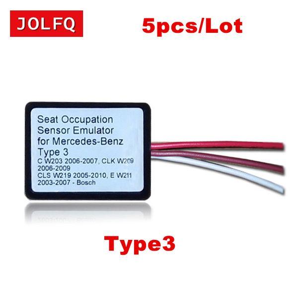 JOLFQ 5pcs/Lot MB SRS Emulator Type 3 for Mercedes benz C W203 CLK W209 CLS W219 E W211 seat Airbag reset tool