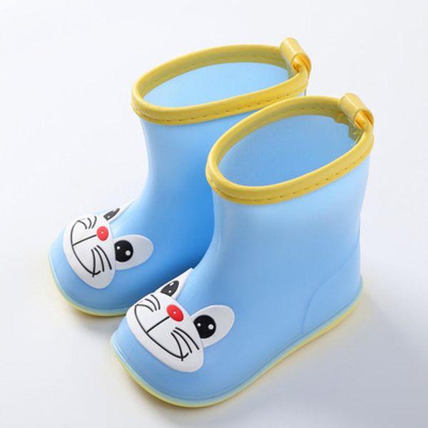 Hochwertige Cartoon stilvolle Kinder Clown Regen Stiefel Student wasserdichte Schuhe Günstige Cartoon wasserdichte Wide Toe Baby Kids Regen Stiefel