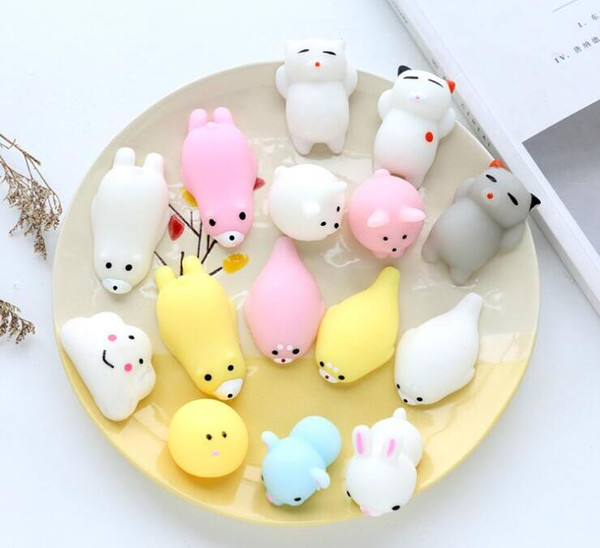 top popular 26 Style Squishy Slow Rising Jumbo Toys Animals Cute Kawaii Squeeze Cartoon Toy Mini Squishies Cat rebound Animal Gifts Charms B 2020