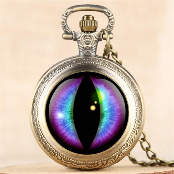 Orologio da taschino vintage da uomo al quarzo design creativo orologio da uomo Donna Steampunk Exquisite Pendant Clock 4 Colors Fob Necklace Chain Retro