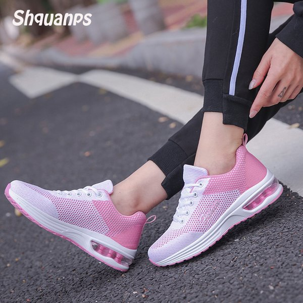 2019Zapatos Mujer Transpirable Air Cushion Basket Femme Sneakers Chaussure Marca Zapatos Casuales Scarpe Donna Krasovki Zapatillas Mujer