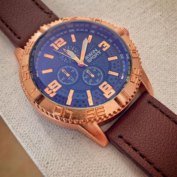 2019 Relojes de hombre Top Reloj Hombre Reloj de cuarzo deportivo Relojes de hombre Reloj de pulsera grande con esfera grande para Relogio masculino