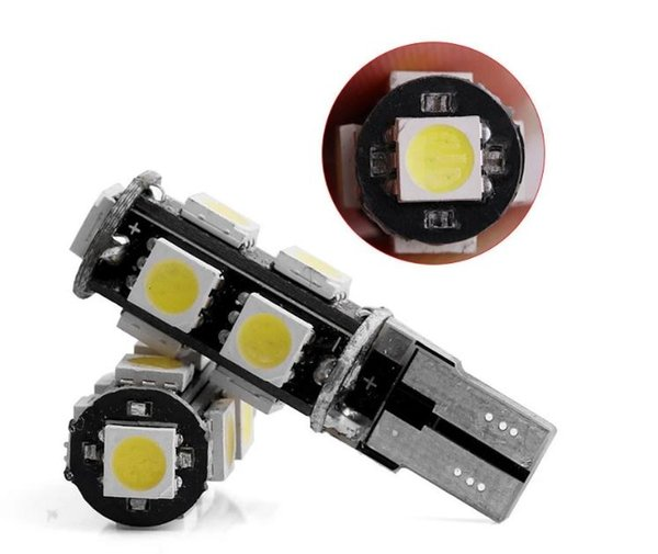 Colore bianco Canbus Error Free Auto LED bulbT10-5smd5050 Lampadina a cuneo 921 / W5W 194 168 2825 Auto Interior Atmosphere Lights