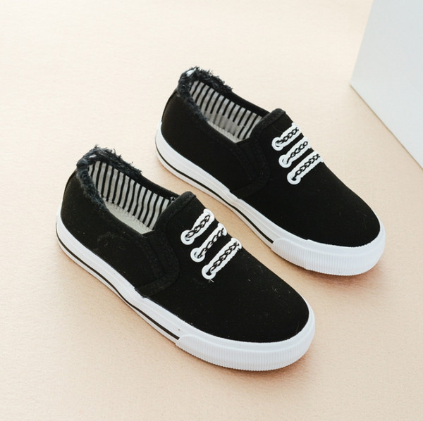 children's boys canvas shoes spring and autumn new one pedal girl shoes children's sports shoes