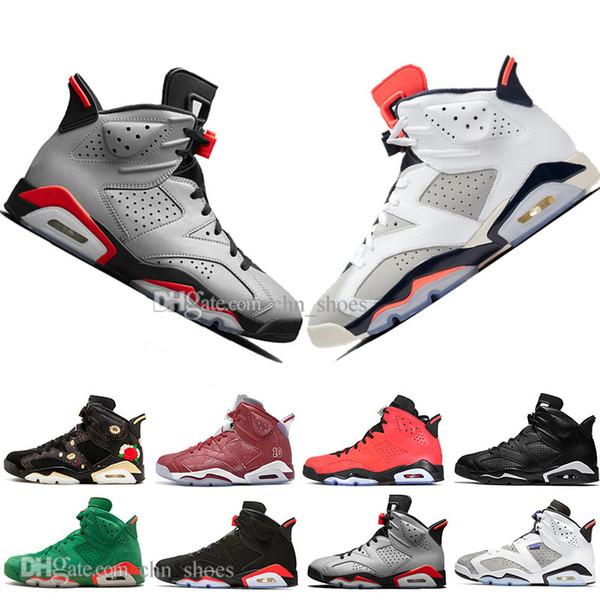 Hot Sale 2019 Infrared Bred 6 6s Mens Basketball Shoes 3M Reflective Bugs Bunny Tinker Hatfield Black Cat Flint Men Sports Sneakers Designer