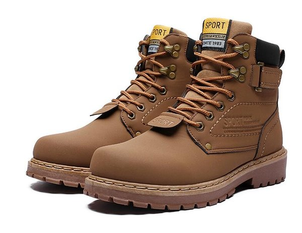 Hot Sale-Autumn new big size men Martin Boots men hiking shoes mens Work boots fur Snow Boots