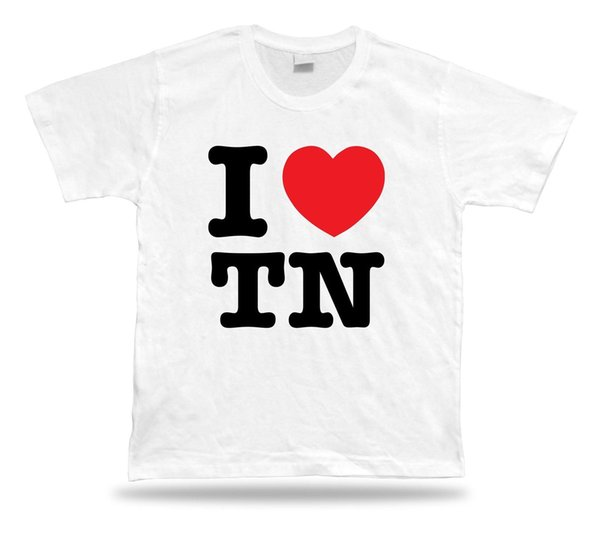 I LOVE TN Tennessee t-shirt heart Volunteer mens pride dark t-shirt white black grey red trousers tshirt suit hat pink t-shirt