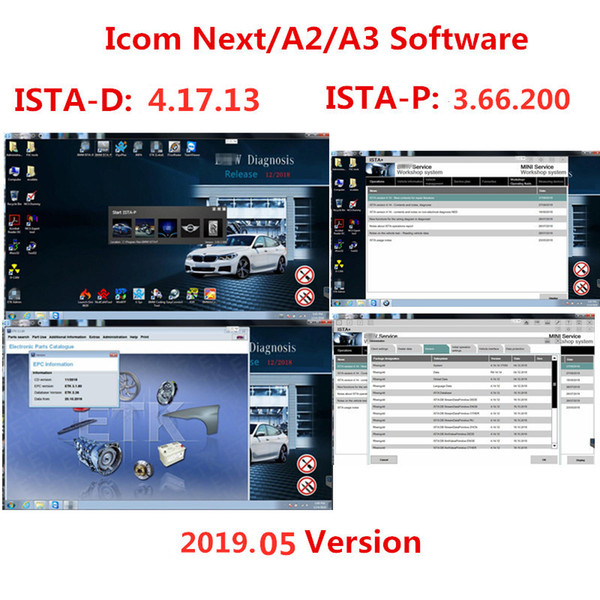 2019.05 for BMW ICOM A2/A3/Next Software in 500GB HDD /384GB SSD Software for BMW ICOM ISTA/D (4.15.31) & ISTA/P(3.66.200)