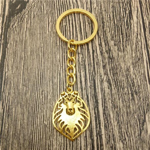 Catene Rough Collie chiave cane di modo dell'animale domestico Gioielli Rough Collie auto del sacchetto di Keychain portachiavi per le donne gli uomini