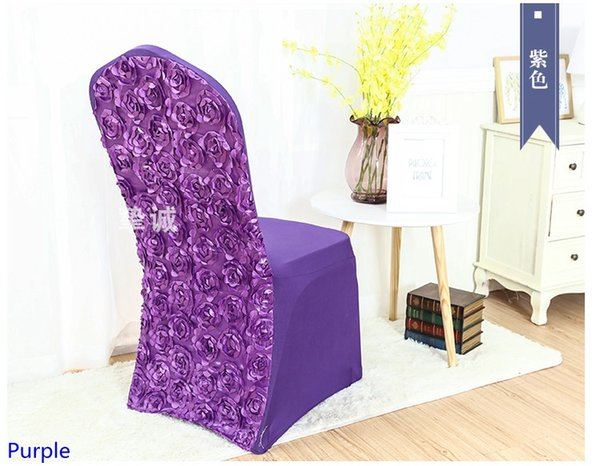 Fantastic Purple Colour Spandex Chair Covers Rosette Chair Cover Rose Flower Design Lycra For Wedding Banquet Hotel Decoration Folding Chair Covers Rental Chair Gmtry Best Dining Table And Chair Ideas Images Gmtryco