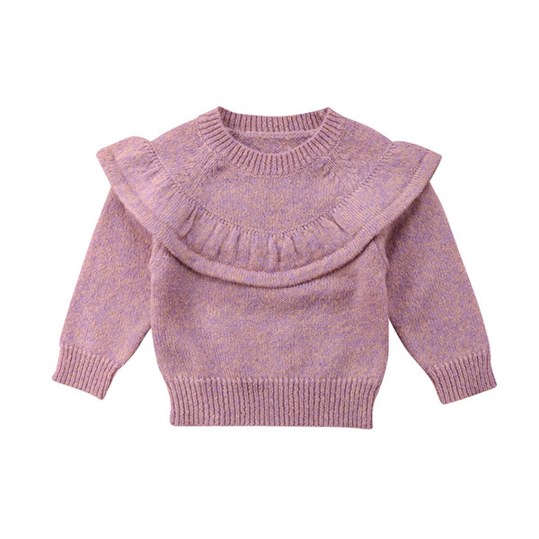 c63c20918 Cute Baby Girls Knitted Crochet Sweater Winter Warm Clothes Jumper ...