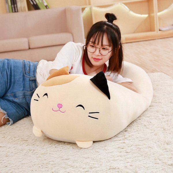 30/60cm Soft Animal Cartoon Pillow Cushion Cute Fat Dog Cat Totoro Penguin Pig Frog Plush Toy Stuffed Lovely Kids Birthyday Gift J190717