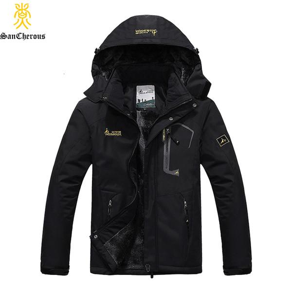 2019 Large Size 9 colori caldi Outwear inverno degli uomini antivento Cappuccio Uomini Jacket Warm Men Parkas Taglia L-6XL SH190918