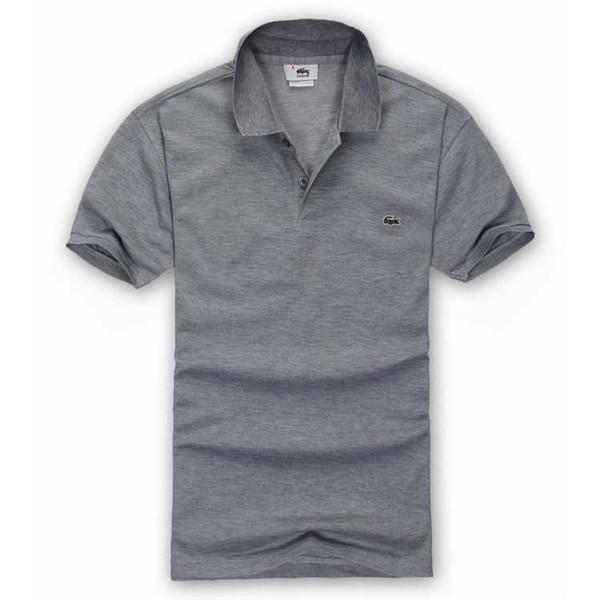 Estate di lusso francese T-shirt shirt designer polo camicia ricamo ad alta via di coccodrillo polo camicia abbigliamento uomo marchio di abbigliamento