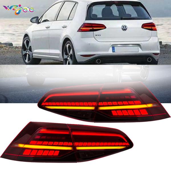 Pour 2013-18 VW Volkswagen Golf 7 R MK7 Tail lampe Indicateur séquentiel Taillights Accessoires Auto