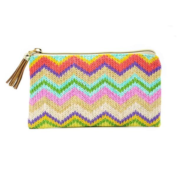 Tassel Beach Bag Promotional card holder pop up making machine minimalist slim wallet Tassel Stripe Wave Beach Bag