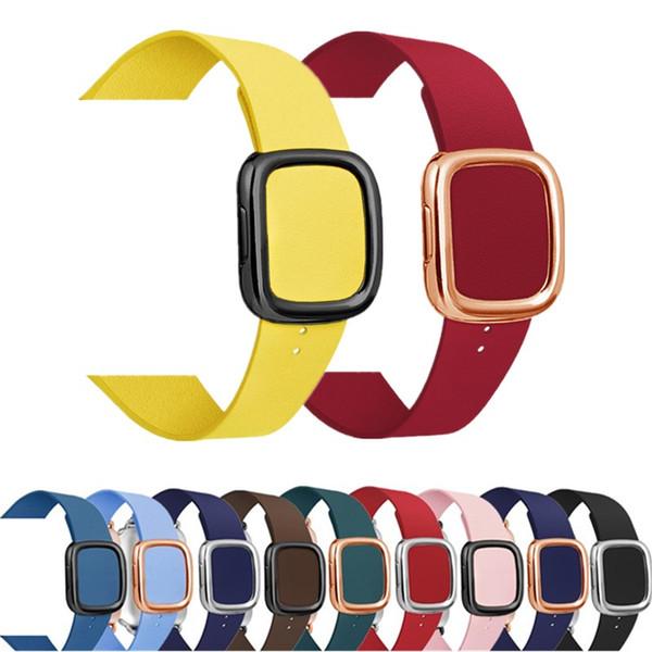 Connettore Genuine cinturino di cuoio magnetica per orologio mela 1 2 3 4 5 la cinghia regolabile per iWatch 38/40 / 42 / 44mm banda colorata Accessori