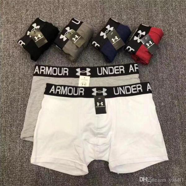 Primavera Autunno uomini traspiranti Boxer sportivi Personalità Elastic Brand Logo Adolescenti Underpants Outdoor Jogging Boys Brief Underwear